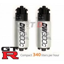 Kit 2 bombas gasolina deatschwerks DW300 para GTR R35