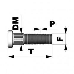 ESPÁRRAGO M12X1.50 L67 DIAM.12,20