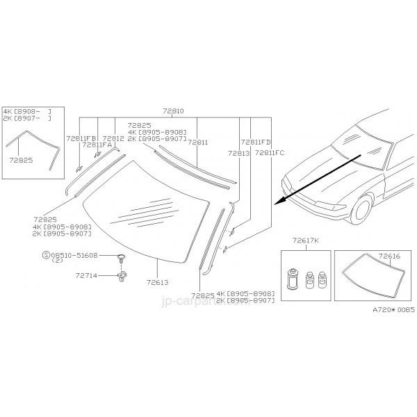Kit Completo Molduras Para Cambio Cristal Delantero Nissan Skyline